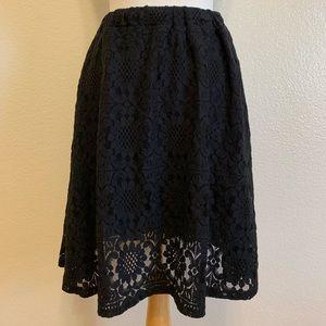 Guipure Lace Black Skirt